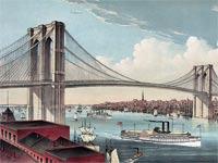 גשר ברוקלין / אייר: הגשר מתחילת המאה ה-20